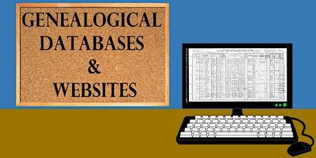 Genealogical Databases and Websites bilhetes