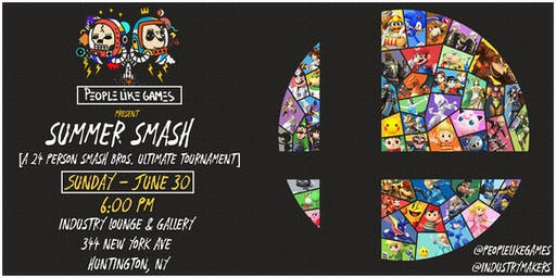 People Like Games present Summer Smash: a 24 person SMASH BROS tournament