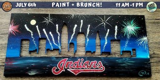 Cleveland Indians Skyline Paint + Brunch! [Two Bucks]
