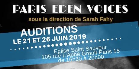 Auditions Paris Eden Voices billets