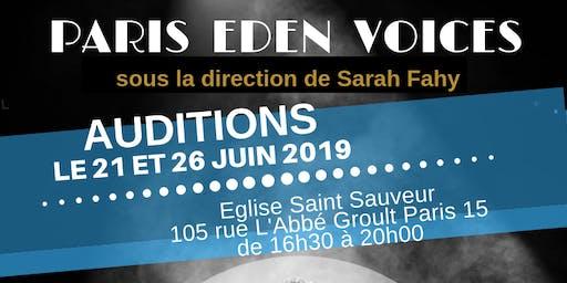 Auditions Paris Eden Voices