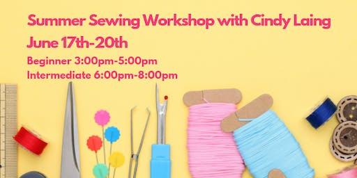 Intermediate Summer Sewing Workshop