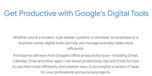 Get Productive with Google's Digital Tools