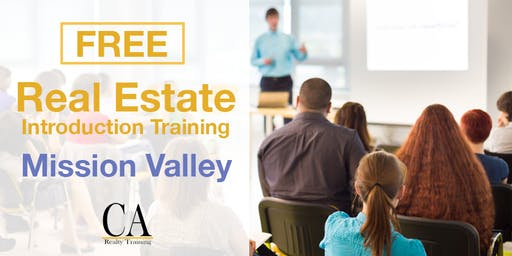 Real Estate Career Event & Free Intro Session - Mission Valley