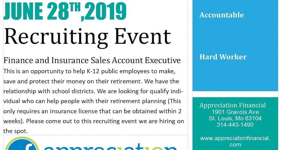 Recruiting Event Tickets Fri Jun 28 2019 At 1000 Am Eventbrite