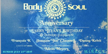 Body & Soul Anniversary tickets