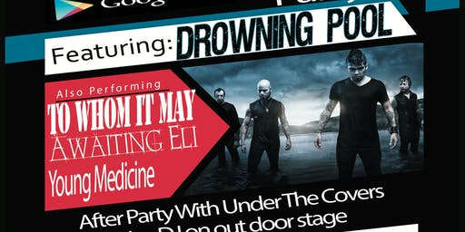 Q bid live K.C. launch party  featuring drowning pool