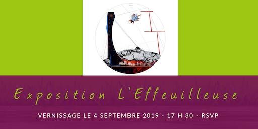 Vernissage de l'exposition L'Effeuilleuse, par Diane Jutras