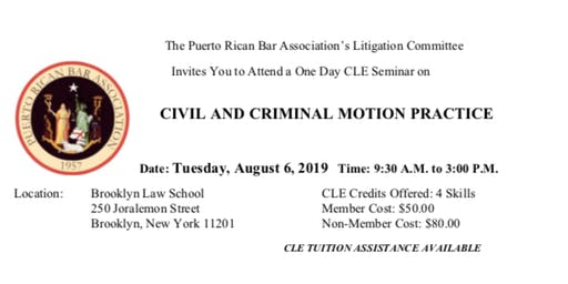 Civil and Criminal Motion Practice CLE