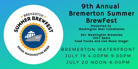 9th Annual Bremerton Summer BrewFest tickets