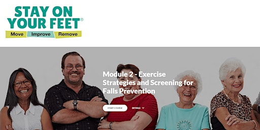 Exercise Strategies and Screening for Falls Prevention