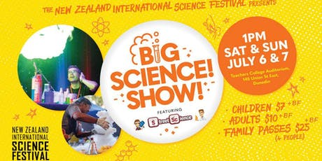 Big Science! Show! featuring Street Science from Australia tickets