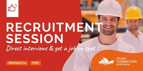 RECRUITMENT SESSION / GET A JOB ON SPOT tickets