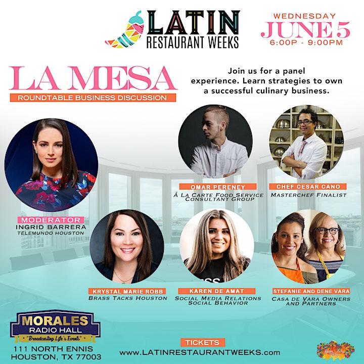 Latin Restaurant Weeks presents La Mesa Business Panel image