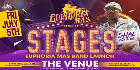 "Euphoria Mas presents: ""Stages"" Band Launch tickets"
