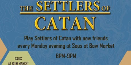 Settlers of Catan Game Night tickets
