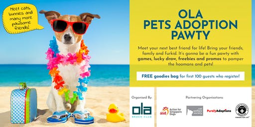 Ola Pets Adoption Pawty