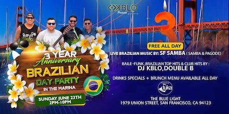BRAZILIAN DAY PARTY IN THE MARINA -3 YEAR ANNIVERSARY  tickets