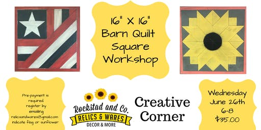 Barn Quilt Square-Flag