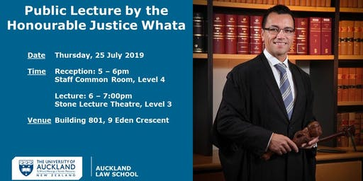 Public Lecture: The Honourable Justice Whata