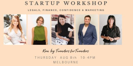 Startup workshop: Intro to starting up right, Melbourne tickets