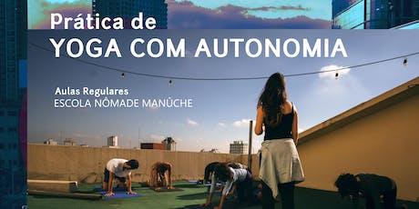 JUNHO - Prática de Yoga com Autonomia - Escola Nômade Manûche bilhetes