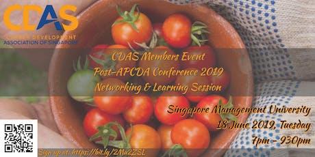 CDAS Members Event: Post-APCDA Conference Sharing tickets