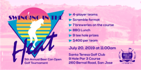 """5th Annual Beer Can Open """"Swinging in the HEAT"""" tickets"""