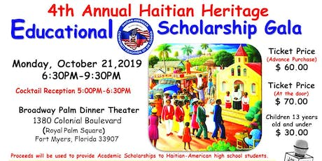 Haitian American Community Coalition of SWFL 4th Annual Scholarship Gala tickets