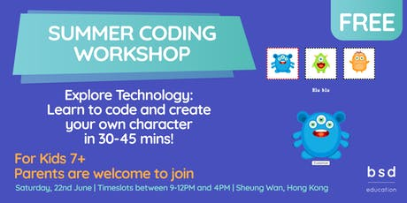 Summer Coding: Free Workshops for Kids and Teens! tickets