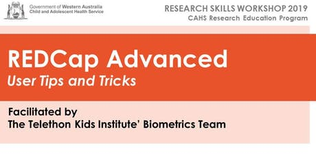 CAHS REDCap Advanced Workshop - 3rd July tickets