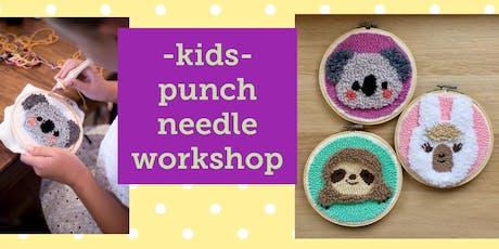 KIDS- Punch Needle Furry Friends tickets