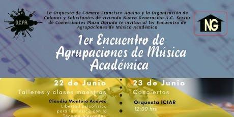 1er Encuentro de Agrupaciones de Música Académica boletos
