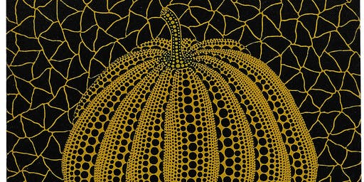 YAYOI KUSAMA STILL LIFE PUMPKINS (drawing & painting) for 5-8 year olds