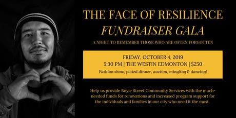 The Face of Resilience Fundraiser Gala 2019  tickets