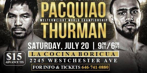 Manny Pacquiao VS Kieth Thurman Live Viewing Fight Party