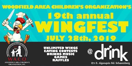 Woodfield Area Children's Organization 19th Annual Wingfest tickets