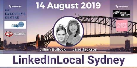 LINKEDIN LOCAL SYDNEY - 14th August 2019 #LinkedInLocal tickets