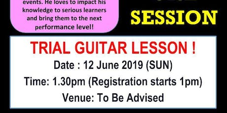 FREE Guitar Trial Lesson tickets