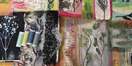 Paper cloth, prints & plants. Creative mixed media textile Lampshades. tickets