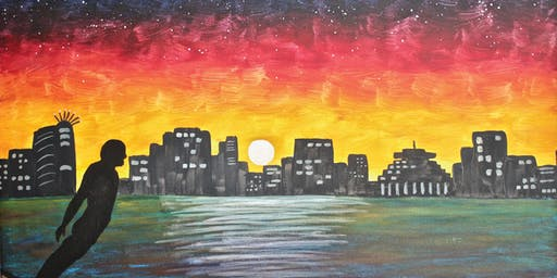 Paint your own Wellington Night with Heart for Art NZ - We'll show you how