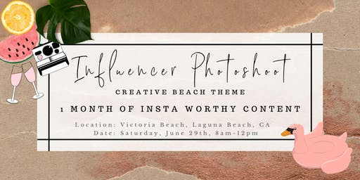 Influencer Photoshoot - Creative Beach Theme