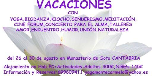 VACACIONES ALTERNATIVAS CANTABRIA del 26 al 30 de AGOSTO de 2019