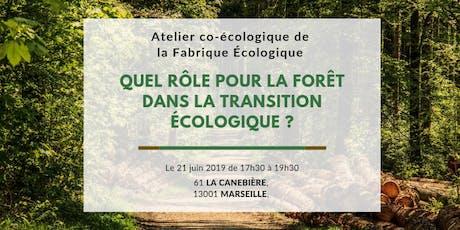 Atelier co-Ecologique à Marseille - La forêt dans la transition écologique billets