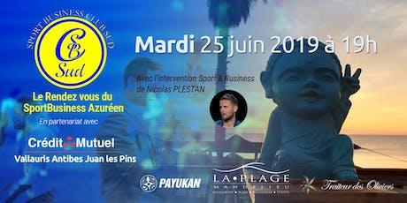 Les rendez vous du Sport business Azuréen avec Nicolas  Plestan billets