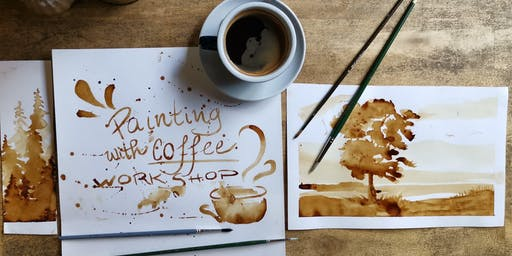 Painting with coffee workshop!