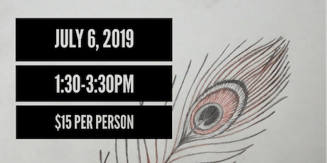Drawing Class: Peacock Feather and Candles tickets