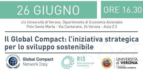Il Global Compact: l'iniziativa strategica per lo sviluppo sostenibile biglietti