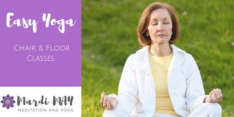 Easy Yoga Wednesdays 10.45-11.45am @ Woodcroft (Chair/Floor) tickets