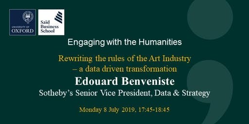 Engaging with the Humanities - Edouard Benveniste, Sotheby's SVP of Data and Strategy